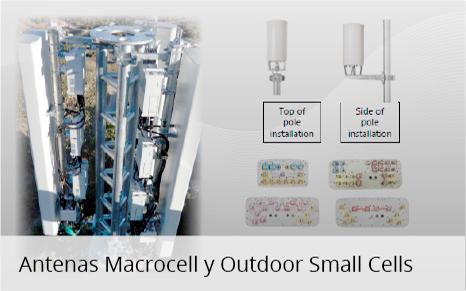 antenas macrocel y outdoors smallcells