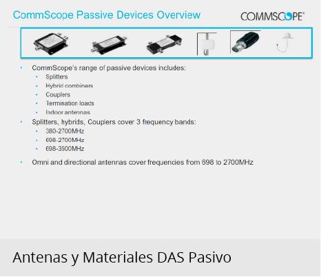 Antenas y Materiales DAS pasivo