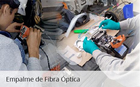 Empalme de fibra óptica