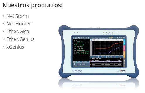 Productos Albedo: Net.Storm, Net.Hunter, Ether.Giga, Ether.Genius, xGenius