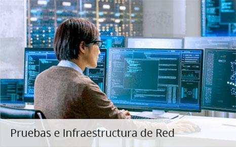 Pruebas de infraestructura de red Ixia