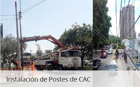 Instalación de Postes de CAC