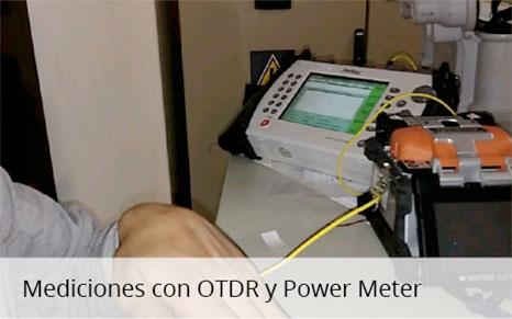 Mediciones con OTDR y Power Meter