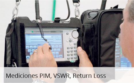 Mediciones PIM, VSWR, Return Loss